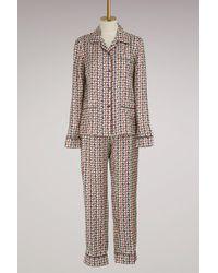 Prada - Silk Pyjama - Lyst