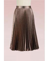 Roberto Collina - Pleated Metallic Skirt - Lyst