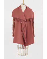 Moncler - Wool Cape - Lyst