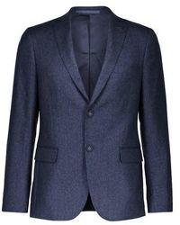 Officine Generale Short Woollen Jacket - Blue