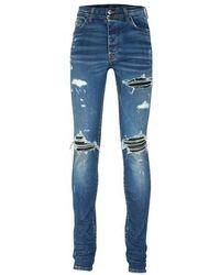 Amiri Mx1 Suede Jeans - Blue