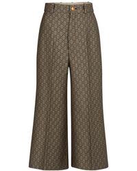 Gucci Wool Blend Culottes - Natural