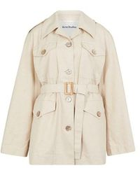 Acne Studios Fitted Parka - Natural