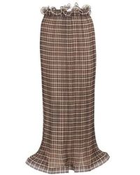 Burberry Longue Skirt - Brown