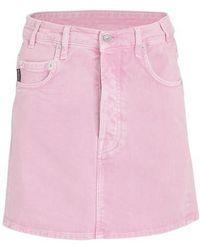 Balenciaga V-neck Denim Skirt - Pink