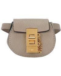 Chloé Drew Mini Belt Bag - Gray