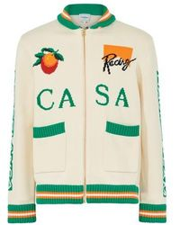 CASABLANCA Pull zippé Casa Racing - Vert