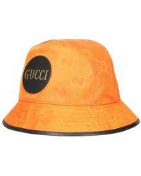 Gucci GG Logo-print Recycled Nylon Bucket Hat - Orange