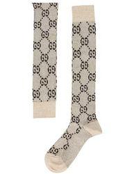 Gucci Chaussettes à logo - Blanc