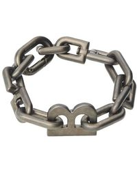 Balenciaga Bracelet Thin B Chain - Métallisé