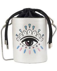KENZO Mini Bucket Bag - Metallic