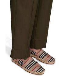 Burberry Espadrilles à rayures iconiques - Multicolore