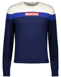Moncler Round-neck Logo Sweatshirt - Blue