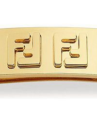 Fendi Ff-motif Barrette - Metallic