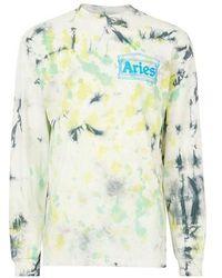 Aries Temple Long Sleeve Tee-shirt - Green