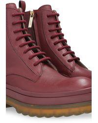 RED Valentino Valentino garavani combat boots - Lila