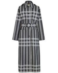 Fendi Vichy Tech Fabric Trench Coat - Grey