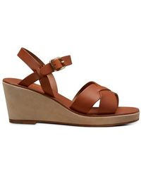 A.P.C. Judith Wedge-heeled Sandals - Brown