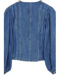 Forte Forte Calvary Embroidered Jacket - Blue