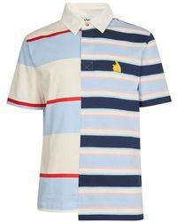 Lanvin Patchwork Polo Shirt - Blue
