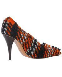 Marni Escarpin en laine à carreaux - Multicolore
