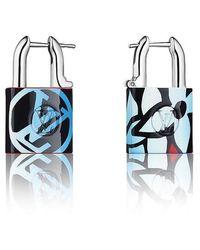 Louis Vuitton Lock Me Speedy Earrings - Blue
