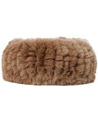 Yves Salomon Rabbit Fur Headband - Brown