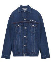 Balenciaga Jacke mit lockerem Schnitt - Blau