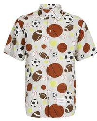 Thom Browne Sports Seersucker Shirt - Grey