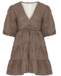 Faithfull The Brand Robe mini Elmiya - Marron