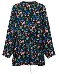 Louis Vuitton Splash Print Dress - Blue
