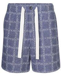 JW Anderson Short oversized - Bleu