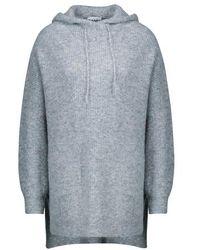 Ganni Hooded Sweater - Blue