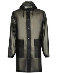 Rains Hooded Coat - Black