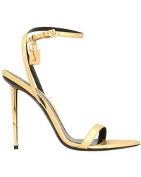 Tom Ford Padlock Sandals - Metallic