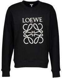 Loewe Anagram Cotton Sweatshirt - Black