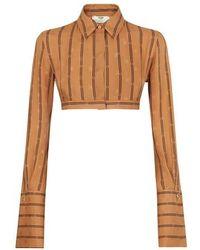 Fendi Crêpe Satin Shirt - Brown