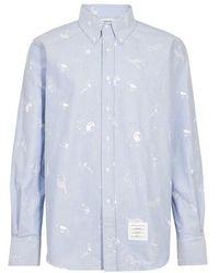 Thom Browne 4-bar Shirt - Blue