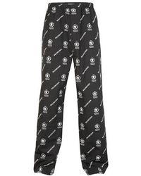 Balenciaga Pyjama Trousers In Black And White Wfp Print