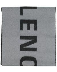 Balenciaga Logo Woollen Scarf - Grey