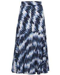 Sportmax Jupe en soie Falena - Bleu