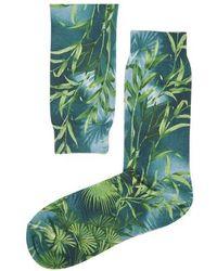 Versace Bedruckte Socken Jungle - Grün