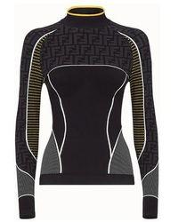 Fendi Pullover aus Nylon in Schwarz