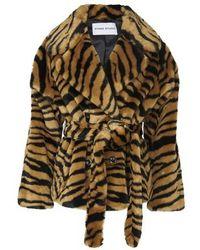 STAND Manteau Tiffany avec ceinture à nouer - Multicolore