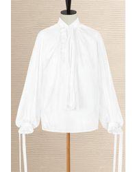 Louis Vuitton Blouse With Neck Tie - White