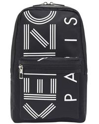 KENZO Paris Logo One Shoulder Backpack - Black