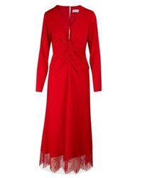 Self-Portrait Midi Dress - Red