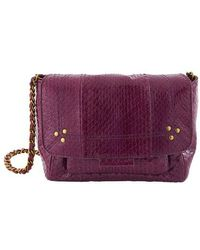 Jérôme Dreyfuss Lulu Small Snakeskin Crossbody Bag - Purple