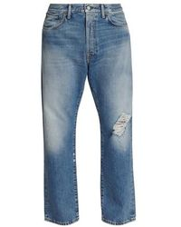 Acne Studios Jeans 2003 Blue Destroyed - Blau