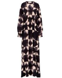 Momoní Cleopatra Dress In Crepe De Chine - Black